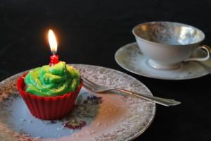 Grün-rote Cupcakes