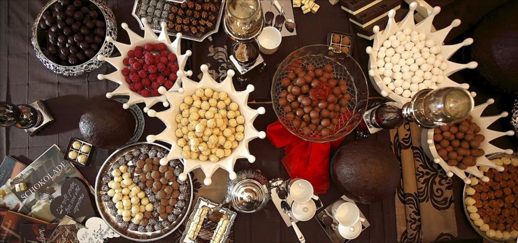Pralinen Praliné Schololade Chocolat Buffet