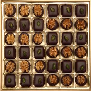 Pralinen Praliné Schololade Chocolat Büffet Maripan Walnuss