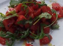 Asiatischer Wassermelonensalat