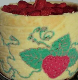 Erdbeer-Torte, Biskuit-Torte, Erdbeer-Deko-Torte, Erdbeer-Deko-Biskuit-Torte, Schicht-Torte, Backen, Genuss, Genuss pur, Rezept