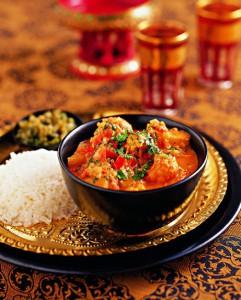 Blumenkohl-Curry, indische Küche, Schlemmeratlas, kulinarische Weltreise, Genießer, Genuss, Feinschmecker, Rezept, Kochbuch
