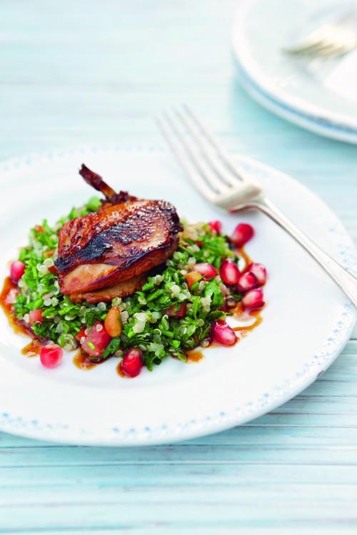 Wachteln Quinoa-Tabboula, Orient, orientalische Küche