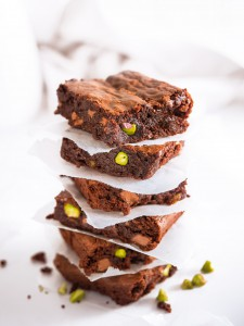 Chocolate Pistachio Brownies