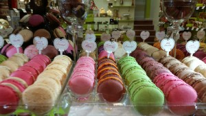 Bunte Macarons-Vielfalt